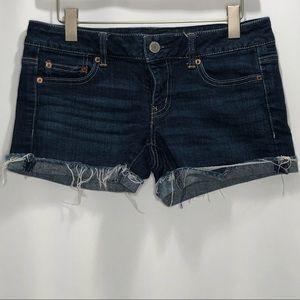 American Eagle Dark Wash Denim Shorts Size 6